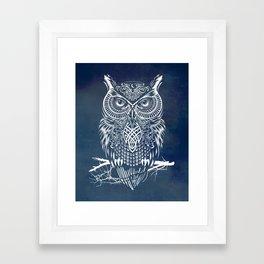 Warrior Owl Night Framed Art Print