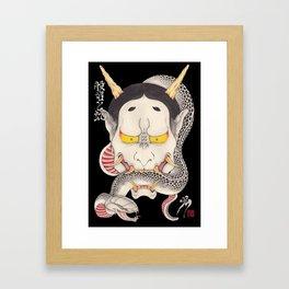 hannya and snake Framed Art Print