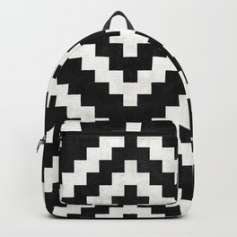 Urban Tribal Pattern No.17 - Aztec - Black and White Concrete Backpack