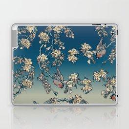 Bullfinch and French Bulldog Cherry Laptop & iPad Skin