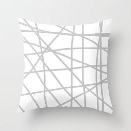 Doodle (Gray & White) Throw Pillow