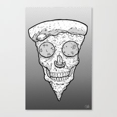 Skull Slice BW Canvas Print