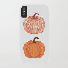 Patterned Pumpkin iPhone Case