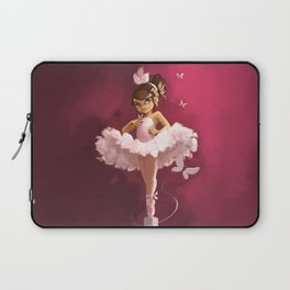 Ballerina with butterfly Laptop Sleeve