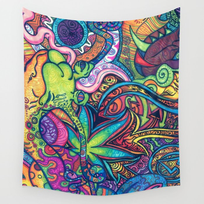 Trippy Weed Wall Tapestry