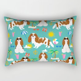 Cavalier King Charles Spaniel beach day tropical vacation socal sunshine Rectangular Pillow