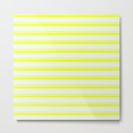 Yellow Stripes Metal Print