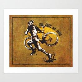 Mud Sweat and Gears Cyclocross Illustration Art Print