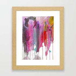 DRIPPING PETALS. Framed Art Print