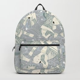 arctic polar bears silver Backpack