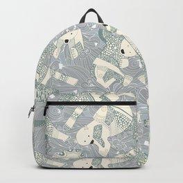 arctic polar bears silver Backpack