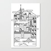 tokyo Canvas Prints featuring TOKYO by Design Made in Japan