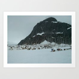 Dog Sledding Camp (Small) Art Print
