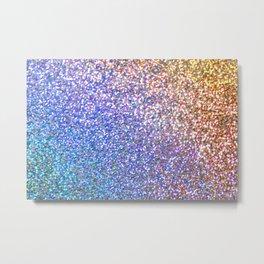 Purple Ombre Glitter Metal Print