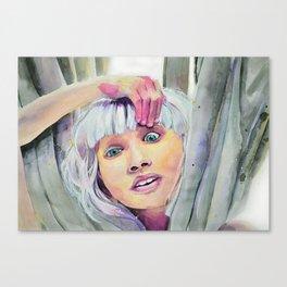 Chandelier Girl Canvas Print