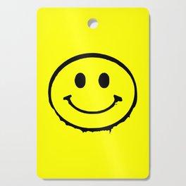 smiley face rave music logo Cutting Board