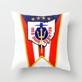 USS OHIO (SSBN-726) PATCH Throw Pillow