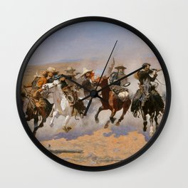 A Dash for the Timber - Frederic Remington Wall Clock