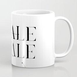 Inhale Exhale Typography Coffee Mug