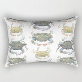 Blue Crabs Rectangular Pillow