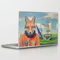 starfox Laptop & iPad Skins featuring Starfox - F*CK YOU PEPPY! by John Medbury (LAZY J Studios)