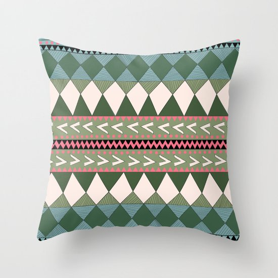 Native Forest Throw Pillow