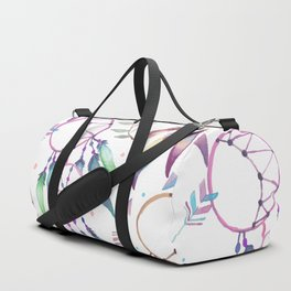 Watercolor Boho Dream Catcher Pattern Duffle Bag