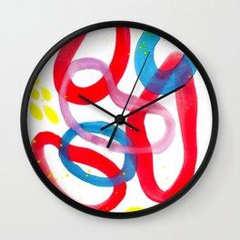 New Year Watercolor Abstract Wall Clock