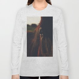 Horse photography, high quality, nature landscape fine art print Long Sleeve T-shirt