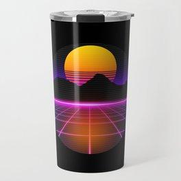 80s Outrun Vaporwave Synthwave Retro Style Travel Mug