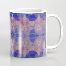 Watercolour Tribal Blue Coffee Mug