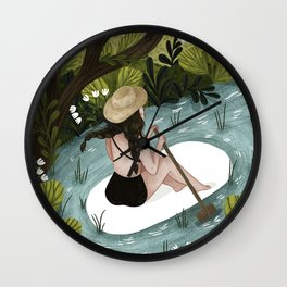 Down the River Wall Clock