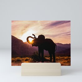 Elephant Sunburst Mini Art Print