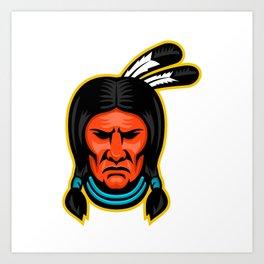 Sioux Chief Sports Mascot Art Print