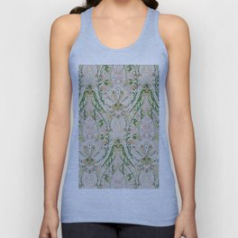 Green Pink Leaf Flower Paisley Unisex Tank Top