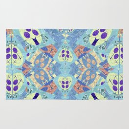 Abstract Vibrant Pastel Quilt 1 Rug
