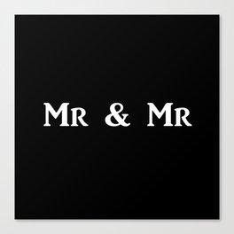 Mr & Mr Monogram bold Canvas Print