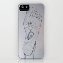 Labyrinth foot iPhone Case