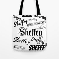 Sheffey Fonts in Black Tote Bag