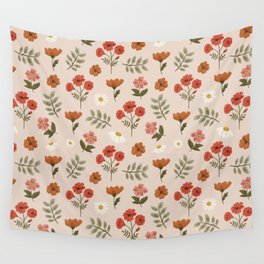 Among the Wildflowers Pattern Wall Tapestry