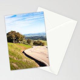 Winding road near Hearst Castle Stationery Cards