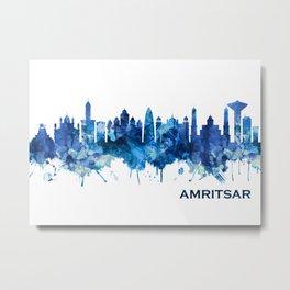 Amritsar Punjab Skyline Blue Metal Print