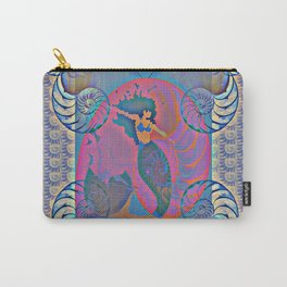 Mermaid Nautilus Shell Power Print 1 Carry-All Pouch