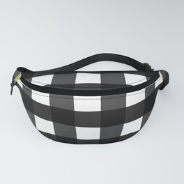 Contemporary Black & White Gingham Pattern Fanny Pack