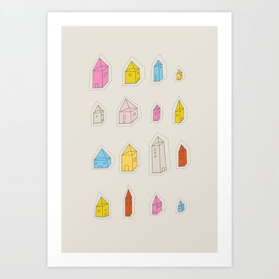 Transparent Houses Art Print