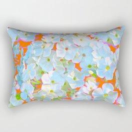 CUMIN ORANGE COLOR & WHITE LACE FLORAL GARDEN Rectangular Pillow