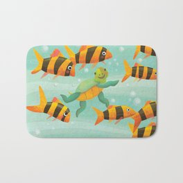 Baby Turtle's New Friends Bath Mat
