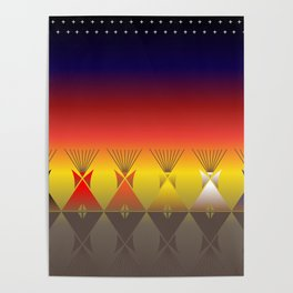 Night Tipi Poster