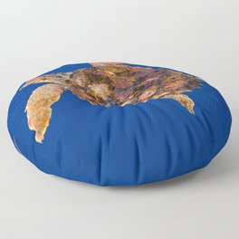 Loggerhead turtle Floor Pillow