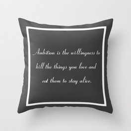 Ambition in Grey Throw Pillow